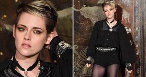 Kristen Stewart's Supershort Chanel Romper and Tights Photos